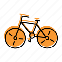beach, bicycle, cycle, holiday, ride, sea, summer, travel, vacation icon