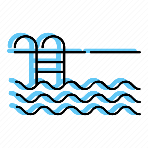 beach, holiday, pool, sea, summer, swim, swimming pool, travel, vacation icon