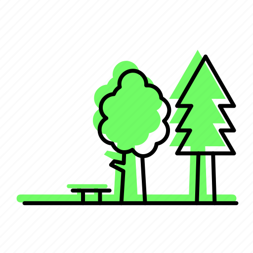 beach, christmas tree, forest, holiday, park, sea, summer, travel, tree, trees, vacation icon