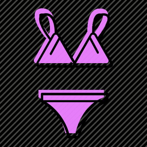 Beach, bikini, holiday, sea, summer, travel, underwear icon - Download on Iconfinder