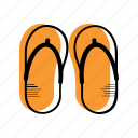 beach, flip flops, holiday, sea, slipper, summer, travel, vacation icon