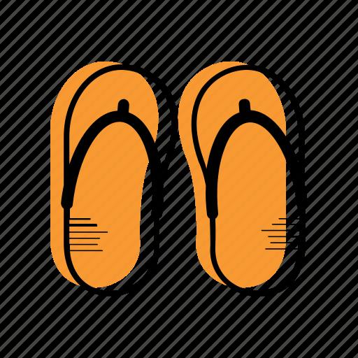 Beach, flip flops, holiday, sea, slipper, summer, travel icon - Download on Iconfinder
