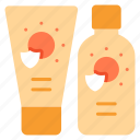 body, care, cream, lotion, skin, summer, sunscreen icon