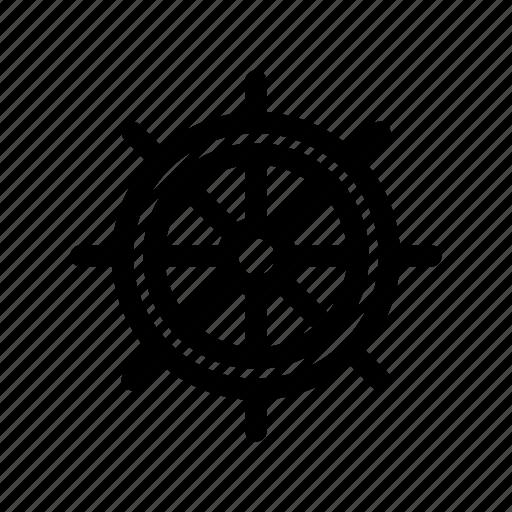 sea, ship, ship wheel, travel, wheel icon