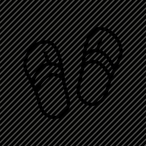 beach, flipflop, footwear, slipper, vacation icon