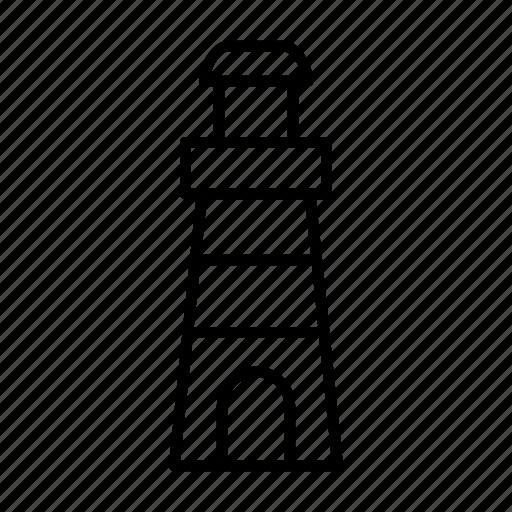lighthouse, ocean, sea, shore, vacation icon