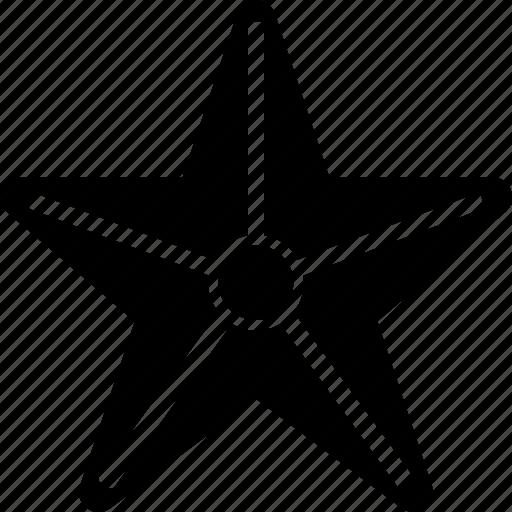 christmas, holiday, holidays, starfish, summer, vacation, winter icon