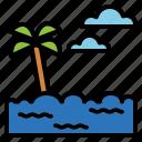 beach, holidays, sunrise, sunset icon