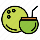 cocktail, coconut, drink, fruit icon