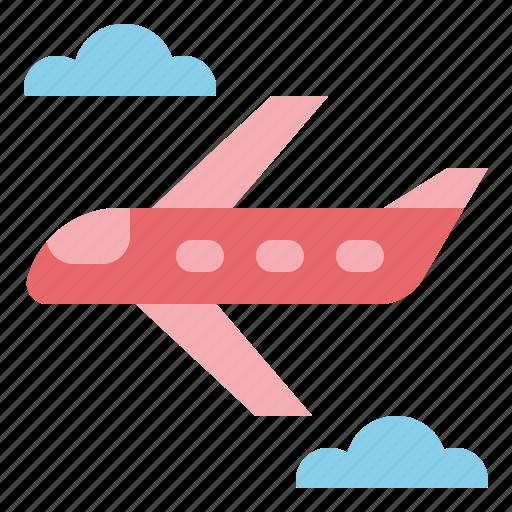 flight, plane, transportation, travel icon