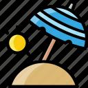 beach, holiday, sand, summer, travel, umbrella, vacation icon