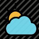 cloudy, weather, cloud, sun, sunset, summer, sunlight