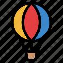 hot air balloon, fly, flight, transport, transportation, travel, summer icon