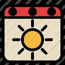 summer, holiday, sun, vacation, weather, calendar, event