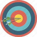 archery, arrow, bullseye, circle, sport, target icon