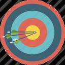 archery, arrow, bullseye, circle, sport, target icon