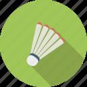 badminton, ball, equipment, shuttle, shuttlecock, sport icon