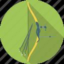 archery, arrow, bow, equipment, sport icon