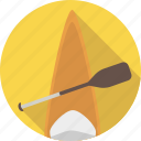 activity, boat, canoe, canoeing, equipment, outdoor, paddle, paddling, sport, water icon