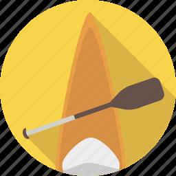 boat, canoe, canoeing, equipment, paddle, paddling, sport icon