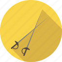 blade, equipment, fencing, fight, fighting, sport, sword icon