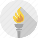 burn, candle, fire, flame, hot, olympic, sport, torch icon