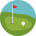 ball, court, flag, golf, hole, jard, sport icon