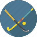 ball, equipment, hockey, indoor, sport, stick, summer icon