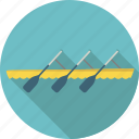 boat, lake, paddle, paddling, rowing, sport, water icon