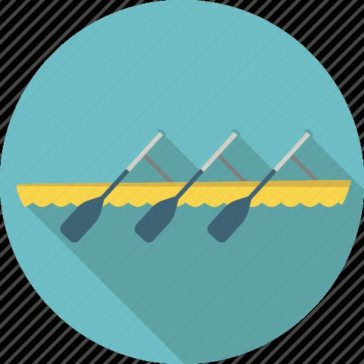 boat, lake, paddle, paddling, rowing, sport, water icon