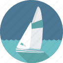 boat, sailing, sailing boat, sea, ship, sport, sports, water icon