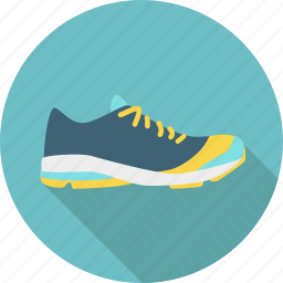 athletics, equipment, exercise, fitness, running, shoe, sport icon