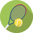 ball, exercise, racket, racquet, sport, sports, tennis icon