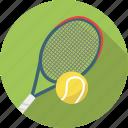 ball, exercise, racket, racquet, sport, sports, tennis icon