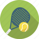 ball, padel, racket, sport, tennis icon