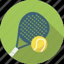 ball, padel, racket, sport, tennis icon