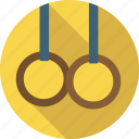 circle, gymnastic, gymnastics, men, rings, sport, still rings icon