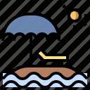 beach, holidays, miscellaneous, summer, sun, umbrella, vacations icon