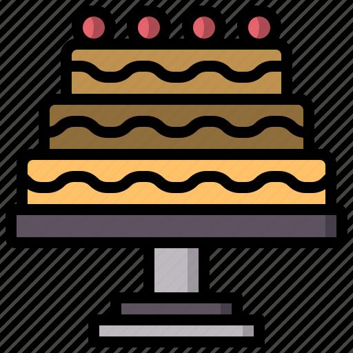 birthday, cake, celebration, dessert, party icon