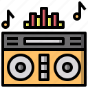 boombox, instrument, mixer, music, musical, player, technology icon