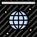 ball, dance, disco, multimedia icon