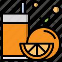 bottle, diet, helthy, juice, orange icon