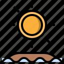 meteorology, summer, summertime, sun, sunny icon