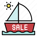 boat, sailboat, sale, summer, travel, vacation icon