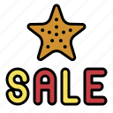 sale, starfish, summer, vacation icon