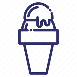 beverage, cone, food, ice cream, snack, summer, sweet icon