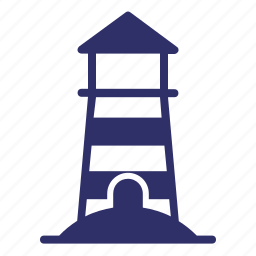 beach, lighthouse, rescue, shore, summer, tower icon
