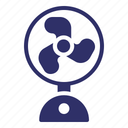 cooling, electric, fan, hot, summer, temperature, wind icon
