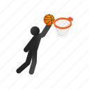ball, basketball, competition, isometric, professional, sport, team icon