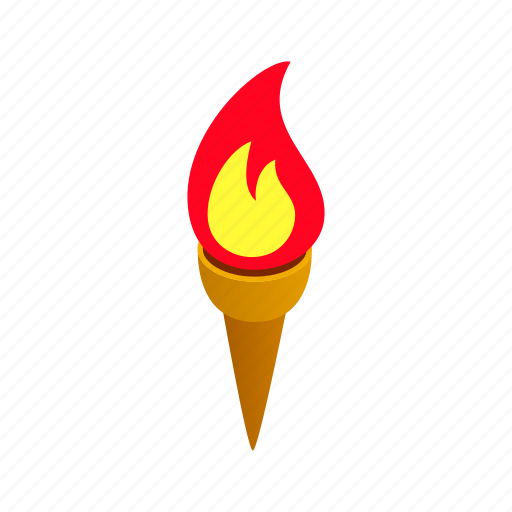 competition, fire, flame, isometric, sport, victory, winner icon